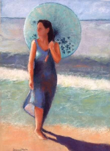 Beach Parasol by Sherese Mesko